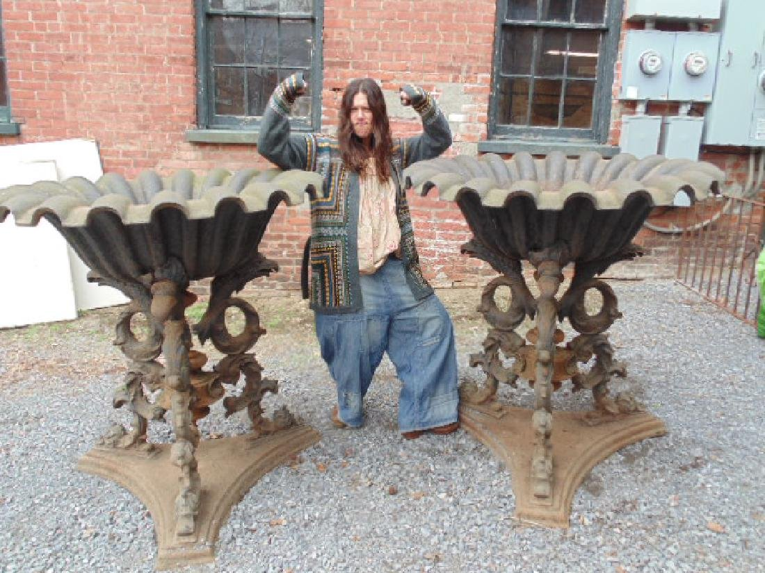 Pair large 19th Century Greek Revival style planters
