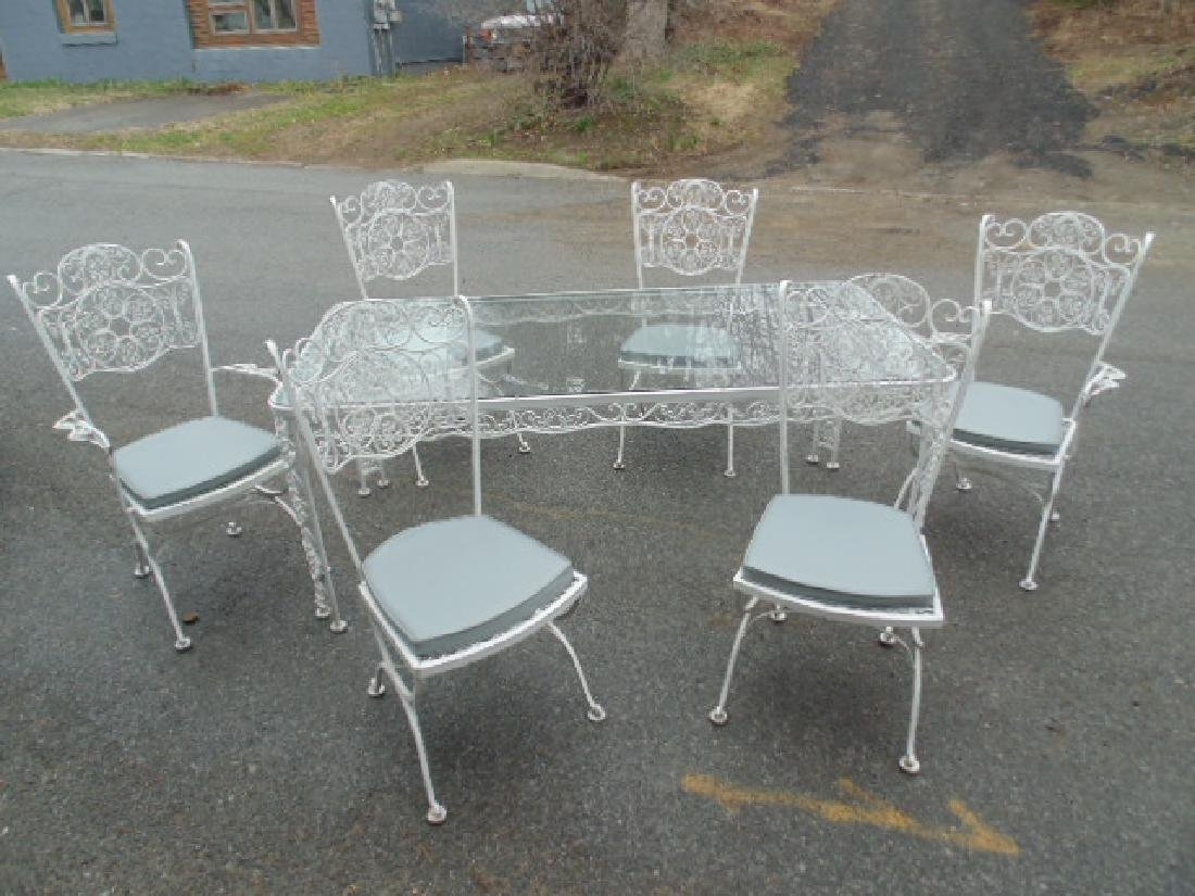 Iron patio set, Salterini , table & 6 chairs