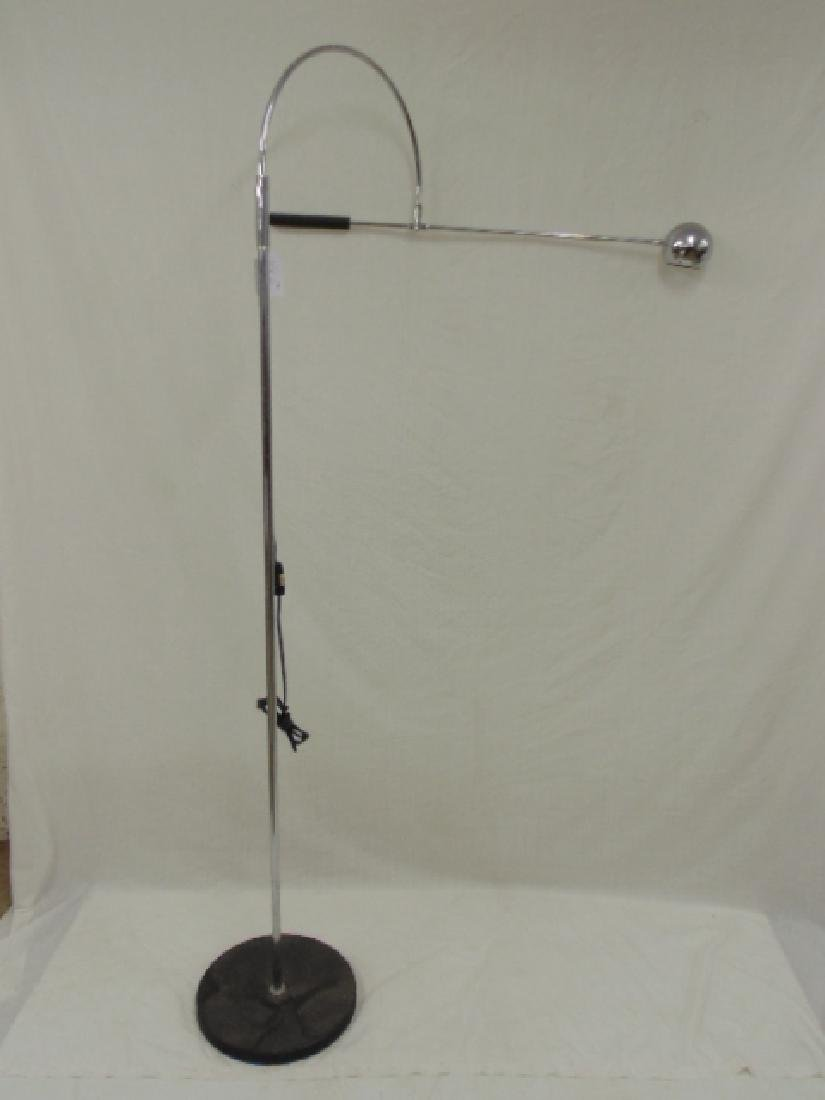 Chrome mid Century floor lamp,