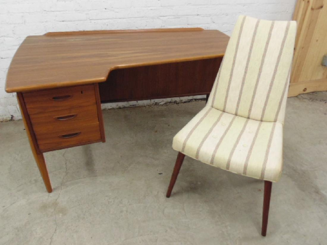 Teak, Swedish desk with chair,  Lelangs Mobelfabrik
