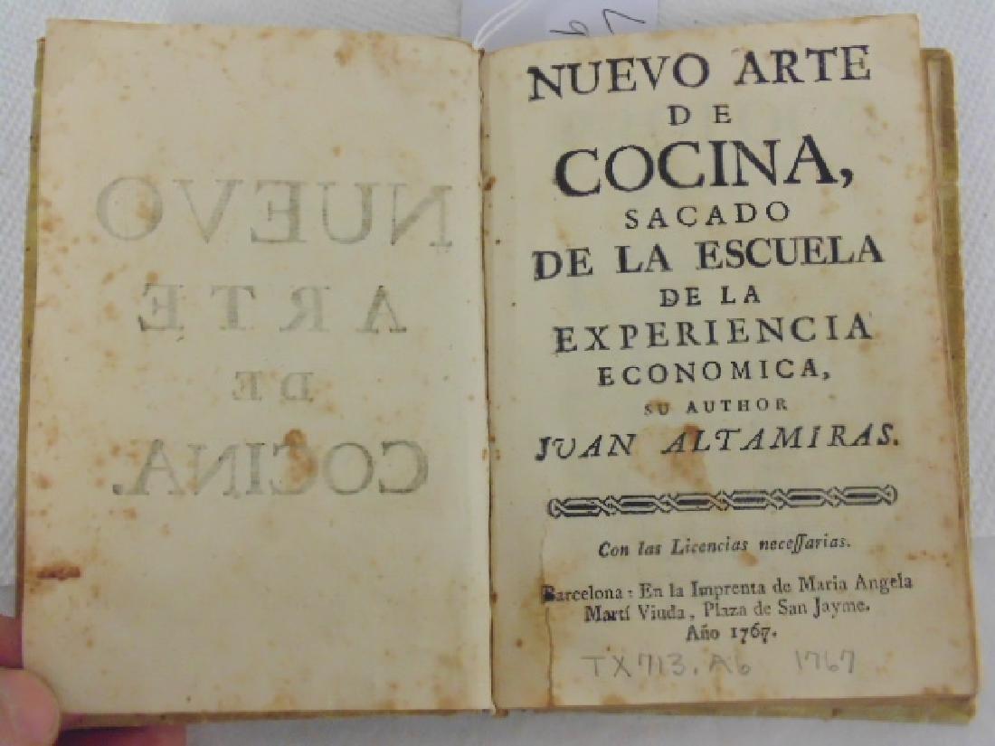 """18th Century book, """"Nuevo Arte de Cocina"""""""