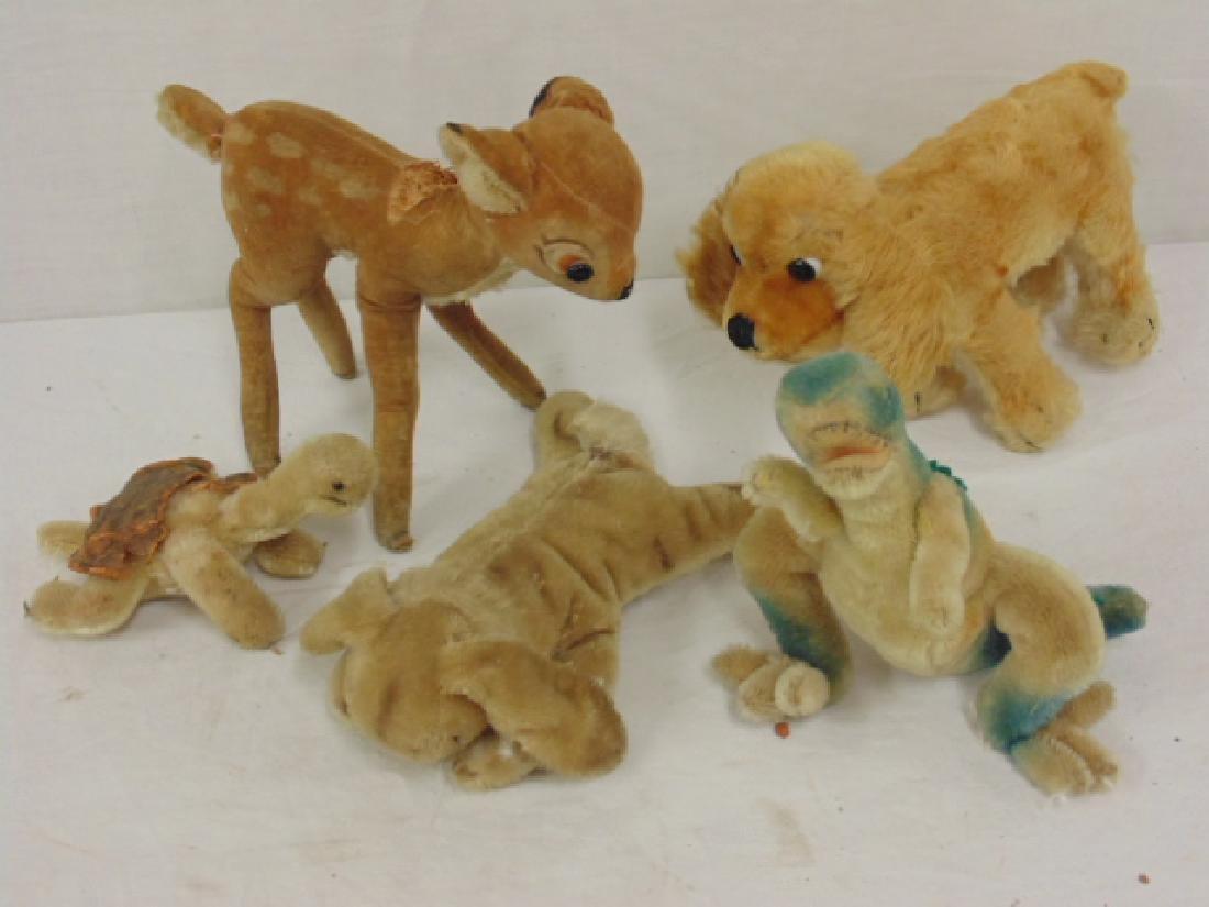 5 Vintage Steiff stuffed animals