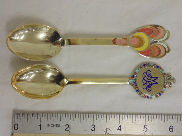 2 Danish silver, Anton Michelsen, Bjorn Wiinblad spoons