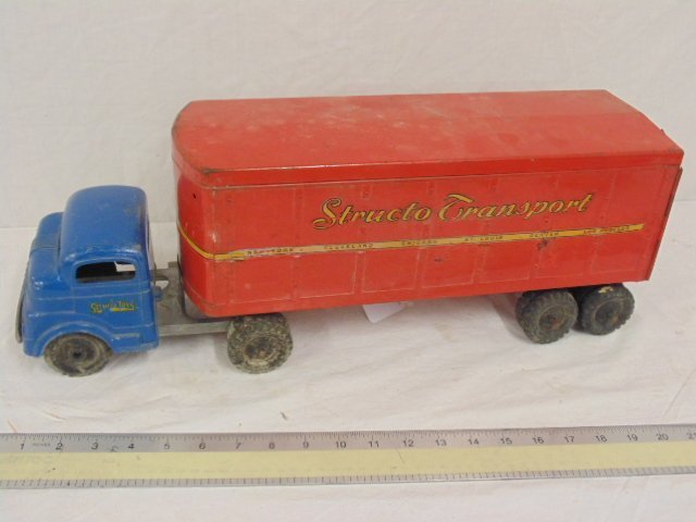 Structo toy truck, tractor trailer, C-3044