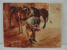 Painting watercolor by Levon West 1934
