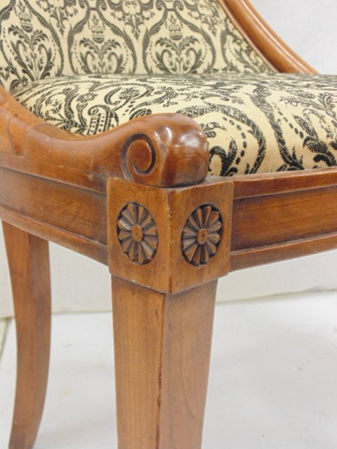 Pair decorative chairs with curved swans - 5