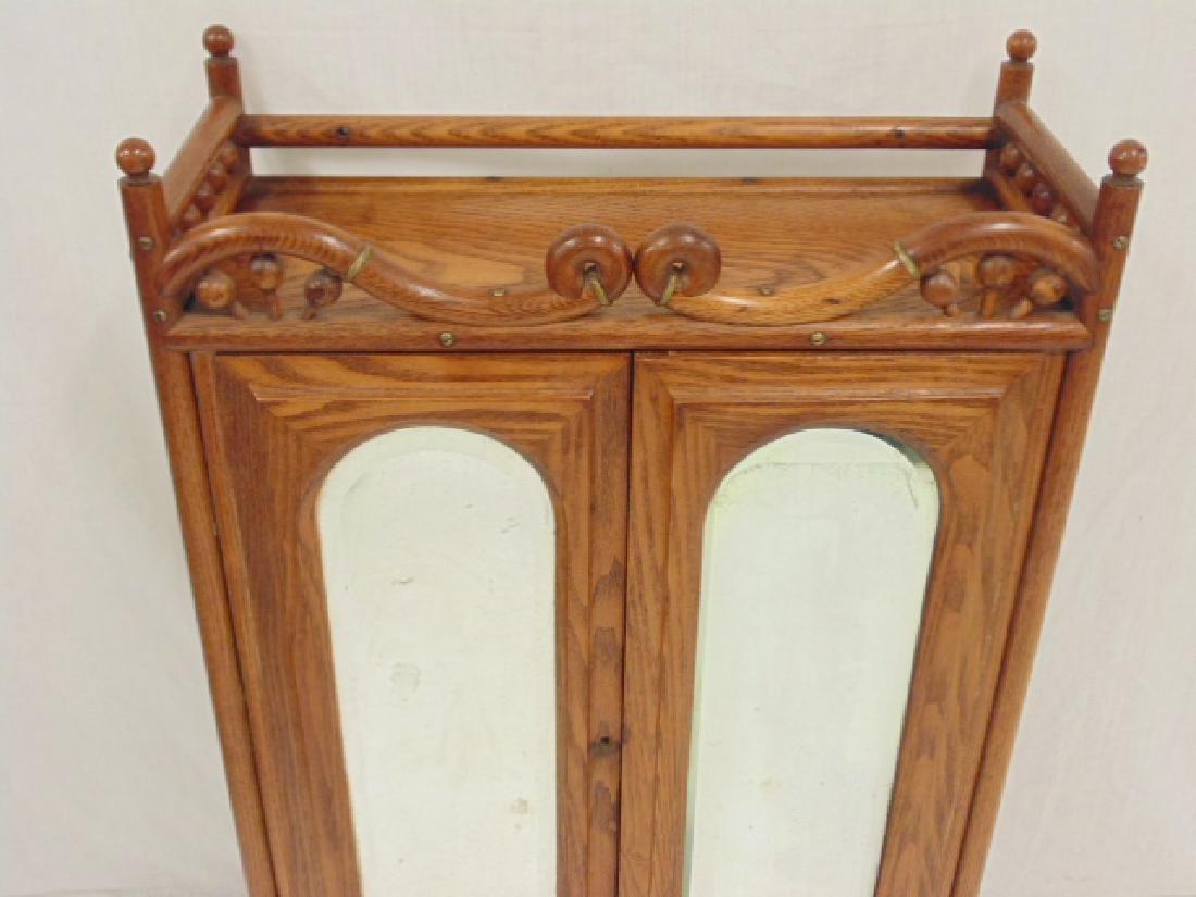 Oak stick & ball double door cabinet - 2