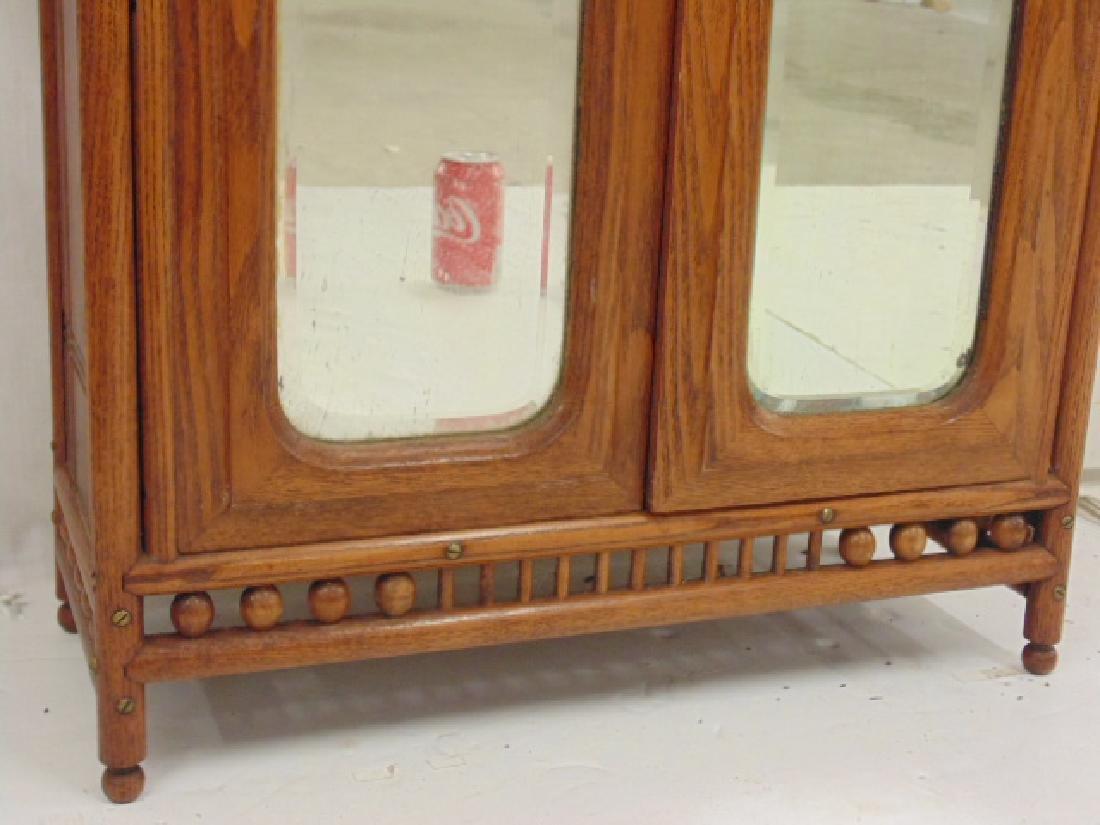 Oak stick & ball double door cabinet - 3