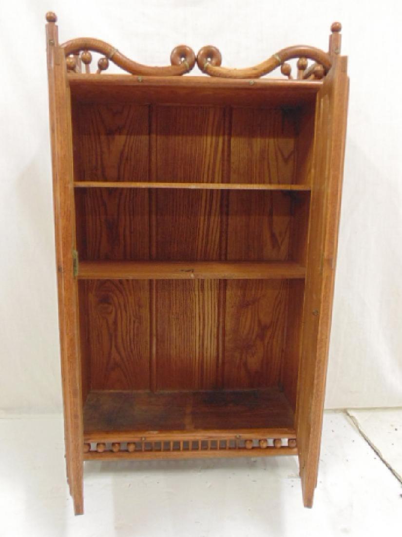 Oak stick & ball double door cabinet - 4