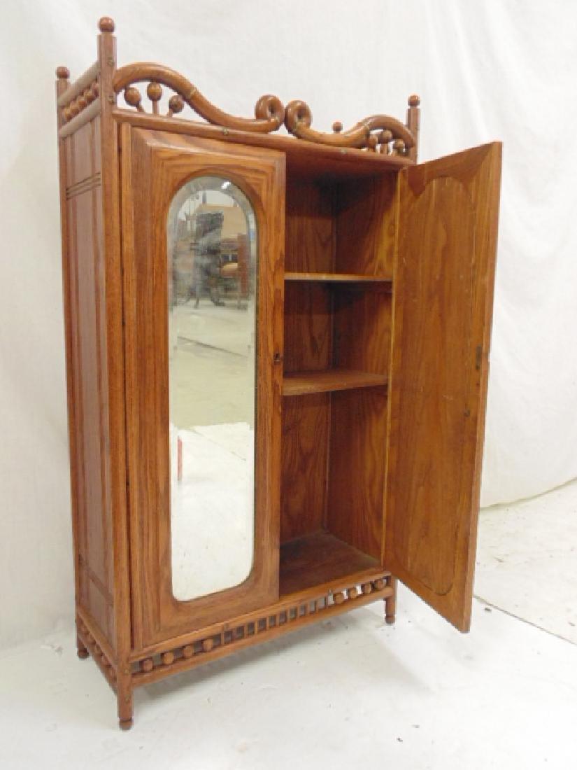 Oak stick & ball double door cabinet - 5