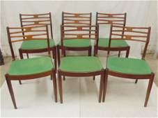 6 teak Vamo Sonderborg Danish Modern chairs