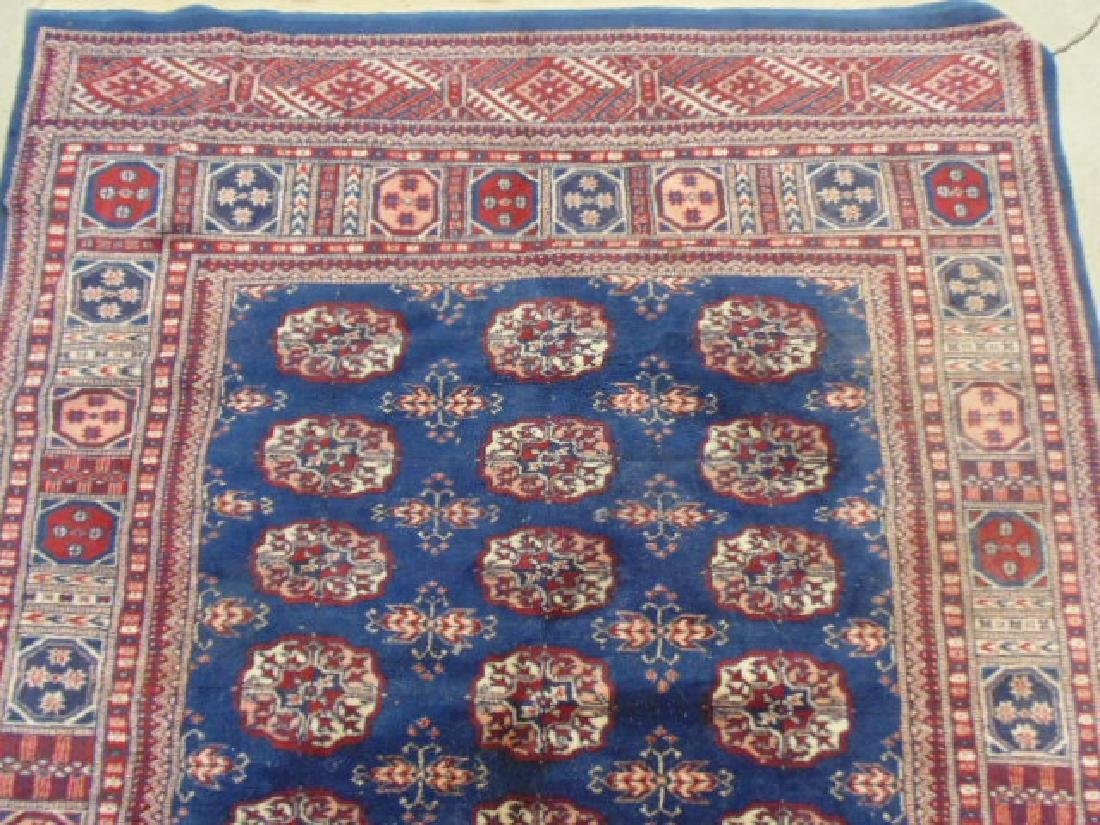 "Bokhara carpet, blue & red, 7'7"" by 5'2"" - 2"