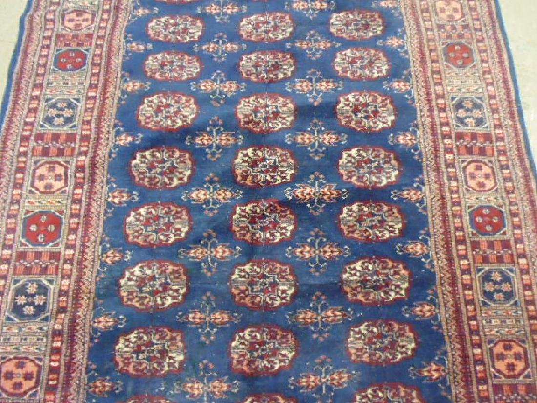 "Bokhara carpet, blue & red, 7'7"" by 5'2"" - 3"