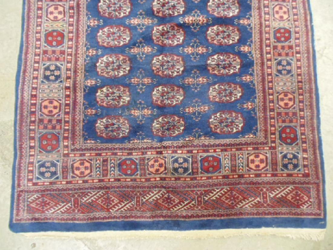 "Bokhara carpet, blue & red, 7'7"" by 5'2"" - 4"