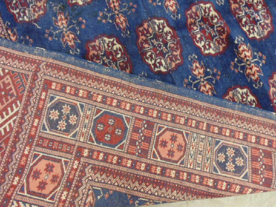 "Bokhara carpet, blue & red, 7'7"" by 5'2"" - 5"
