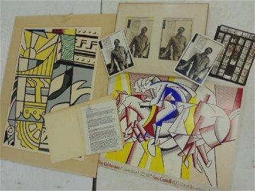Roy Lichtenstein lot, 19 page interview, photos