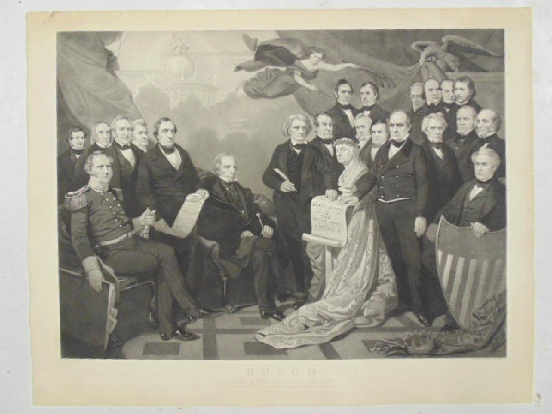 "Engraving, ""Union"", by Henry S. Sadd after a painting"