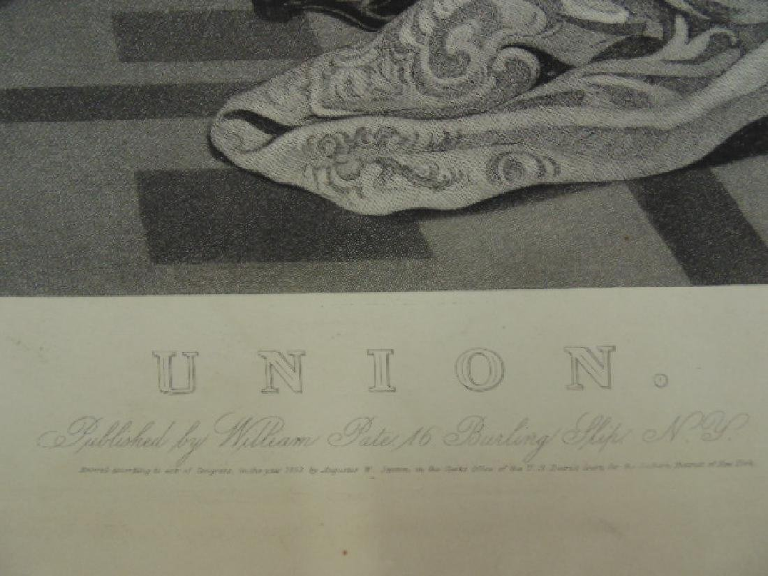 "Engraving, ""Union"", by Henry S. Sadd after a painting - 6"