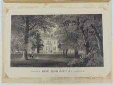 Engraving Ashland the Homestead of Henry Clay near
