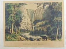 Currier  Ives Bridal Veil Falls YoSemite Valley