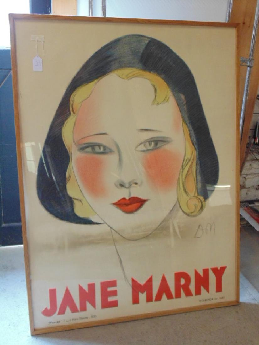 "Jane Marny"", Color lithographic advertising poster,"