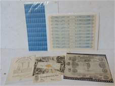 Lot engraved stamps cigar stamps Erie Canal bond