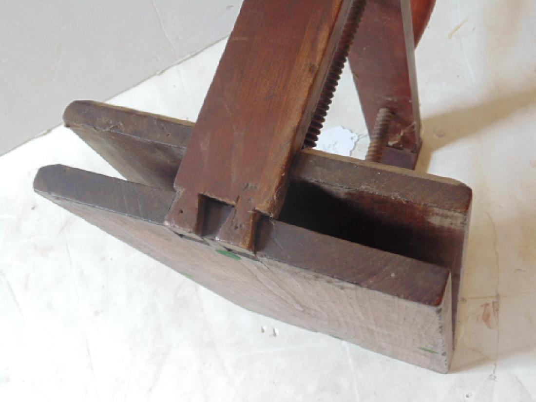 Antique wood book press - 3