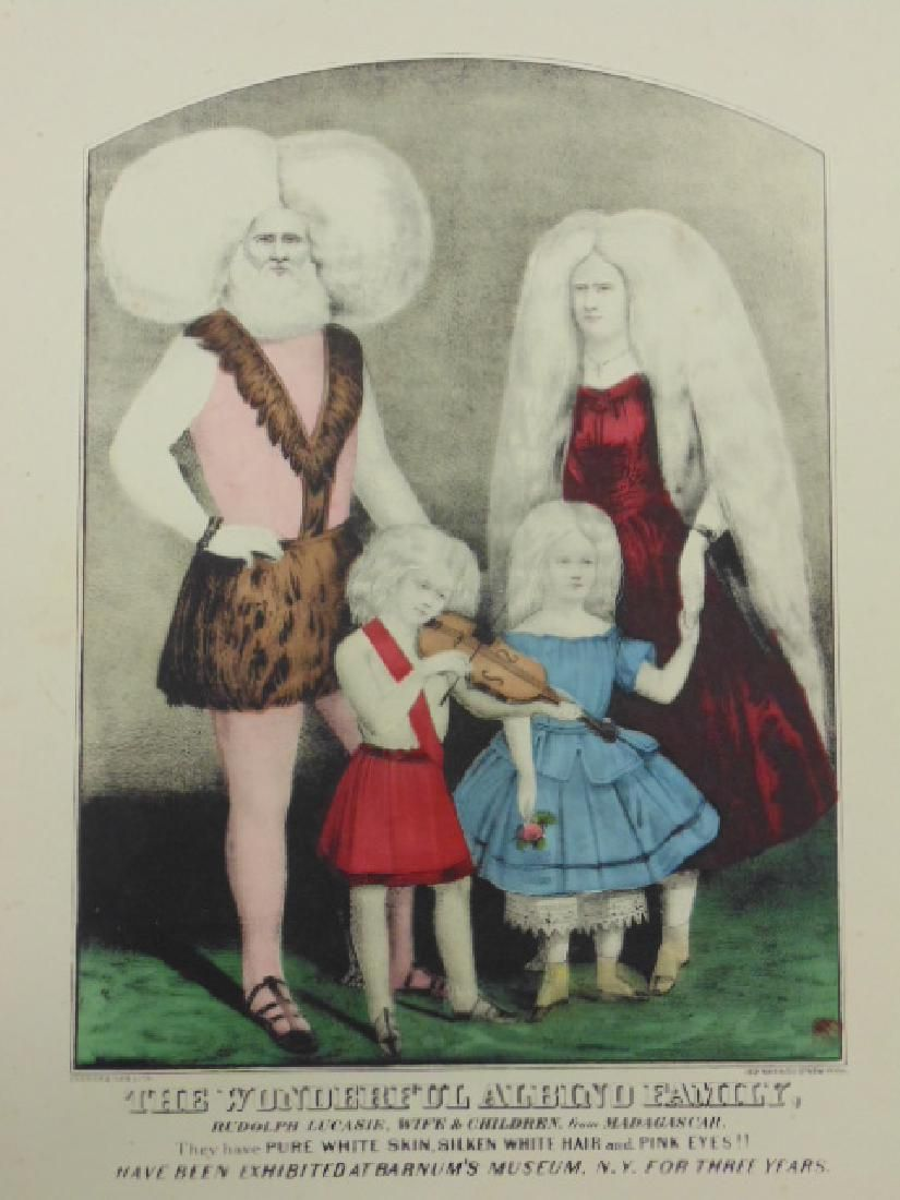 """Currier & Ives print, """"The Wonderful Albino Family"""""""