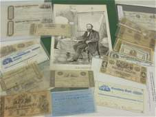 Lot old paper currency 19th Century bank notes