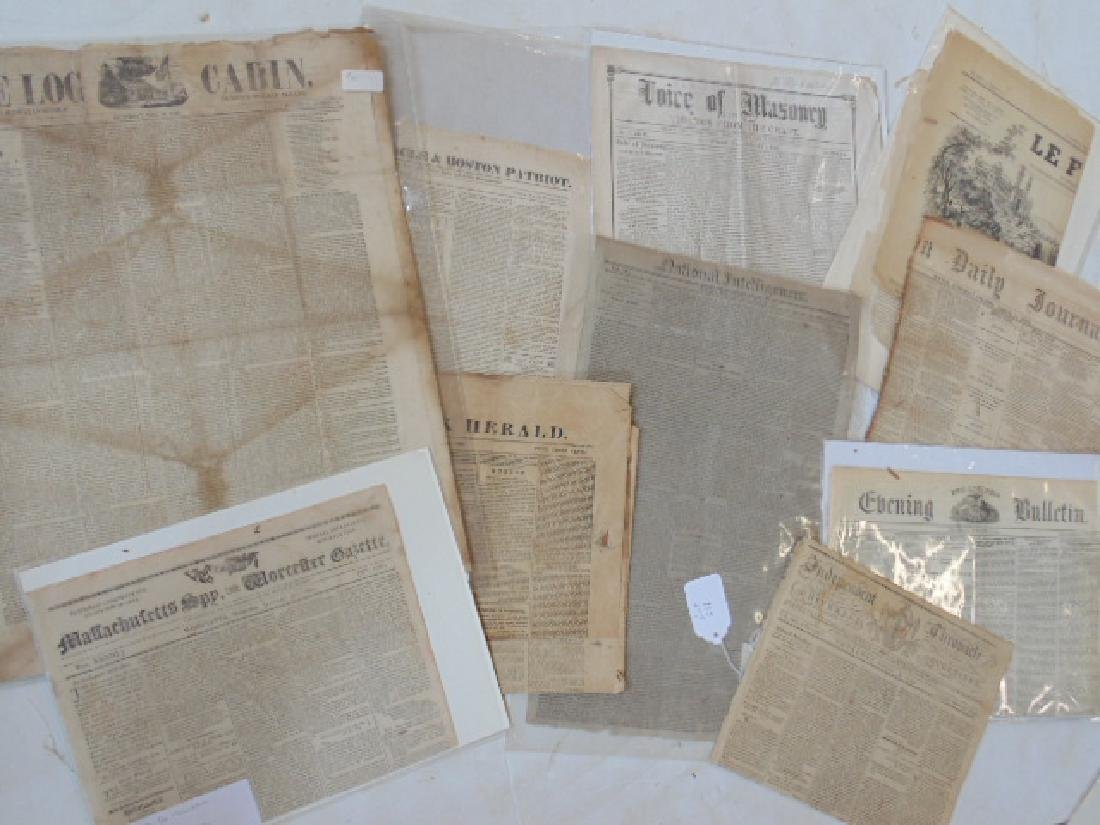 Lot magazines and papers, early 19th Century incl.