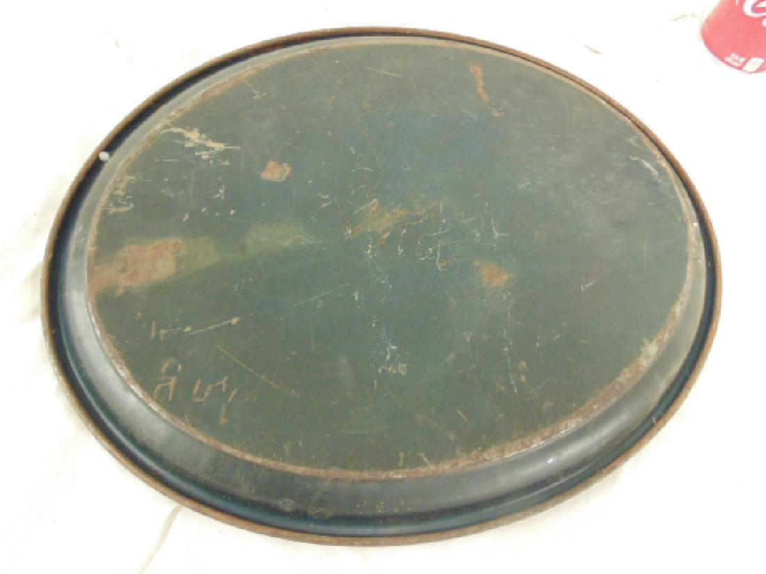 Tole serving tray, portrait of William McKinley, oval, - 4