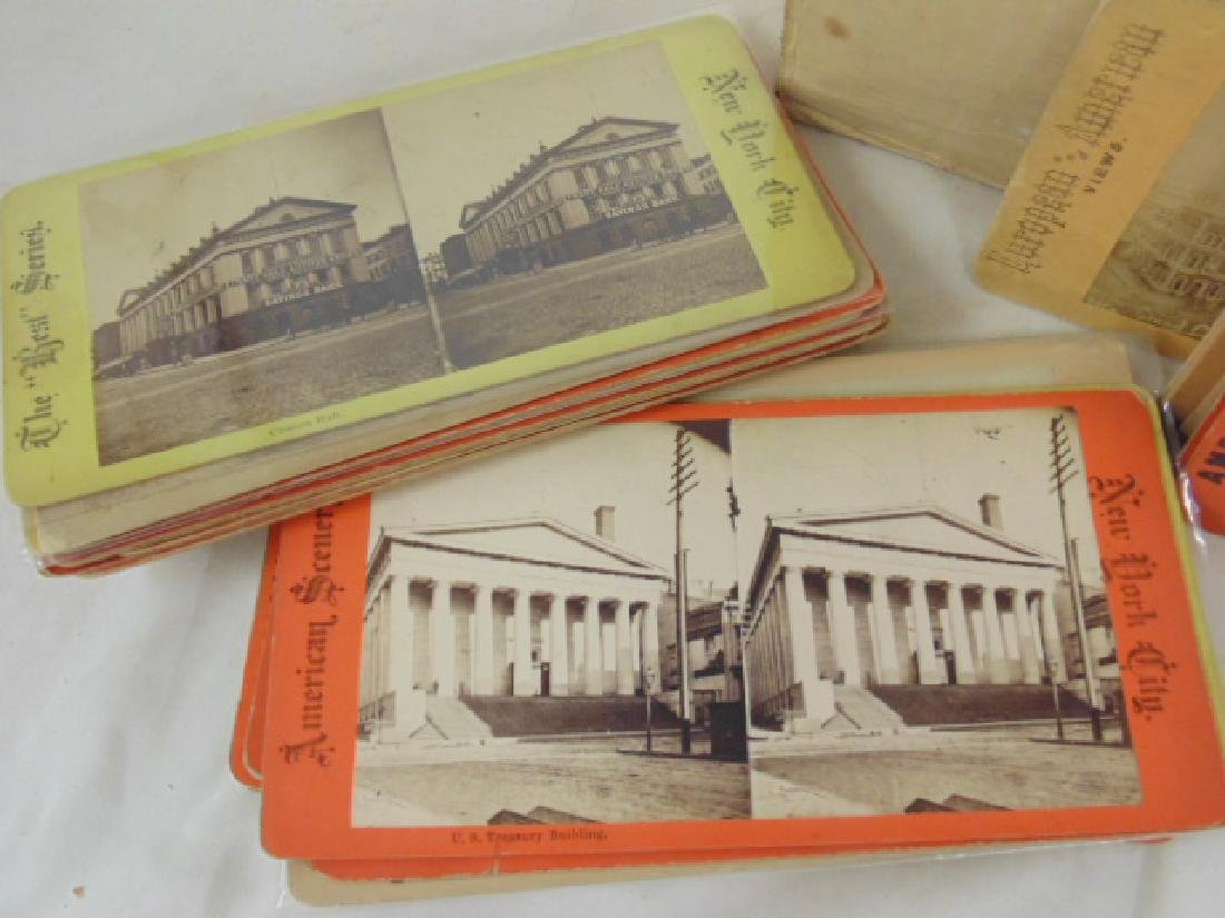 Huge lot stereoscopic cards & viewers, many early New - 3