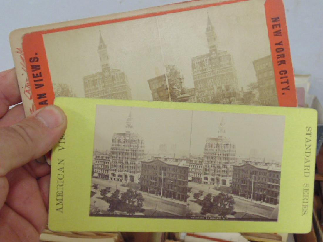 Huge lot stereoscopic cards & viewers, many early New - 4