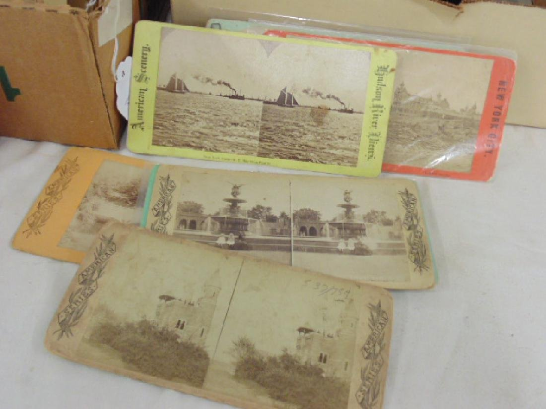 Huge lot stereoscopic cards & viewers, many early New - 7