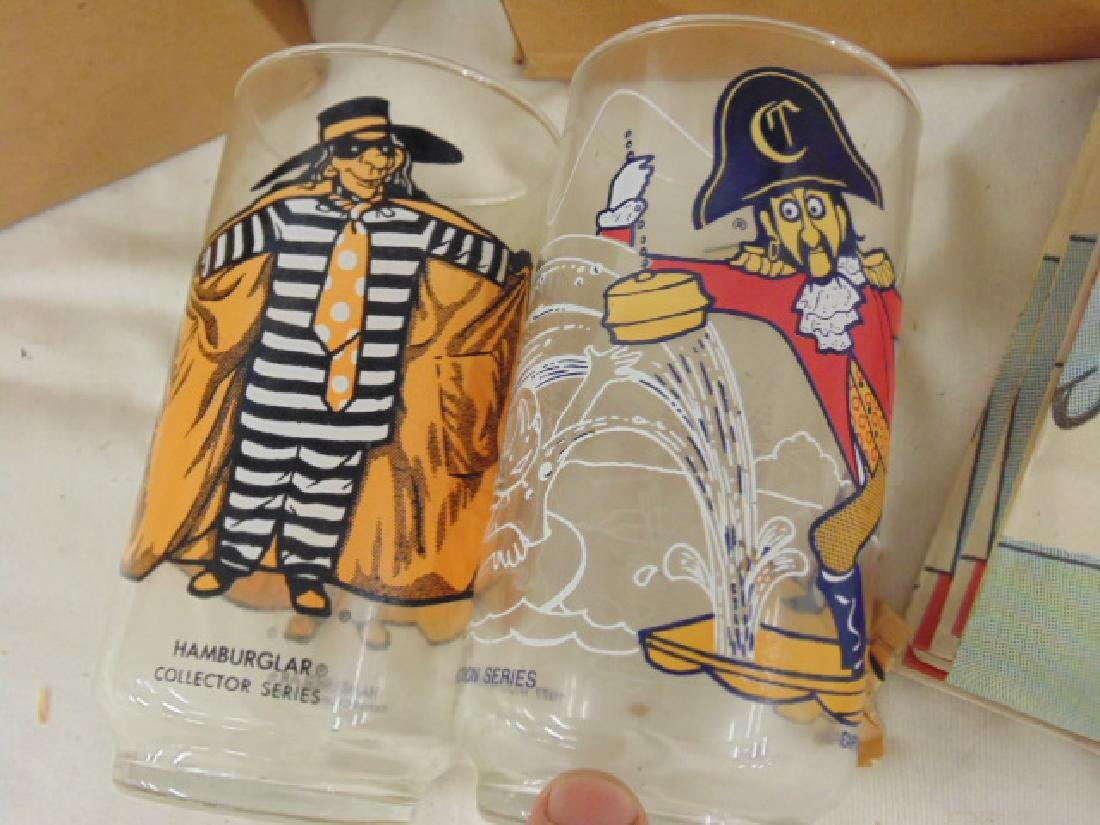 "McDonald's lot, 1970's, including 12 glasses, ""Captain - 3"