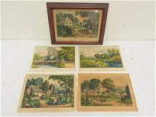 Currier  Ives prints Summer in the Country A New