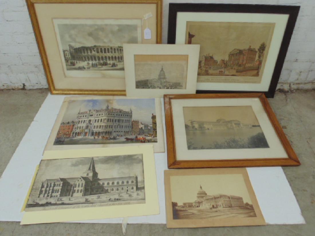 Lot lithos, photos & engravings, Columbia Expo, Capitol