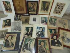 Presidential portrait lot, including etchings,