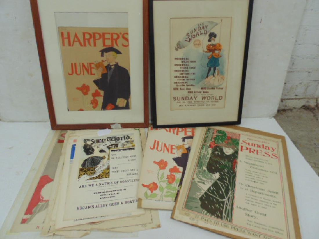 Lot Harpers posters, covers,