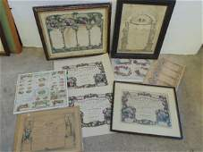 Lot Currier  Ives prints various family registers