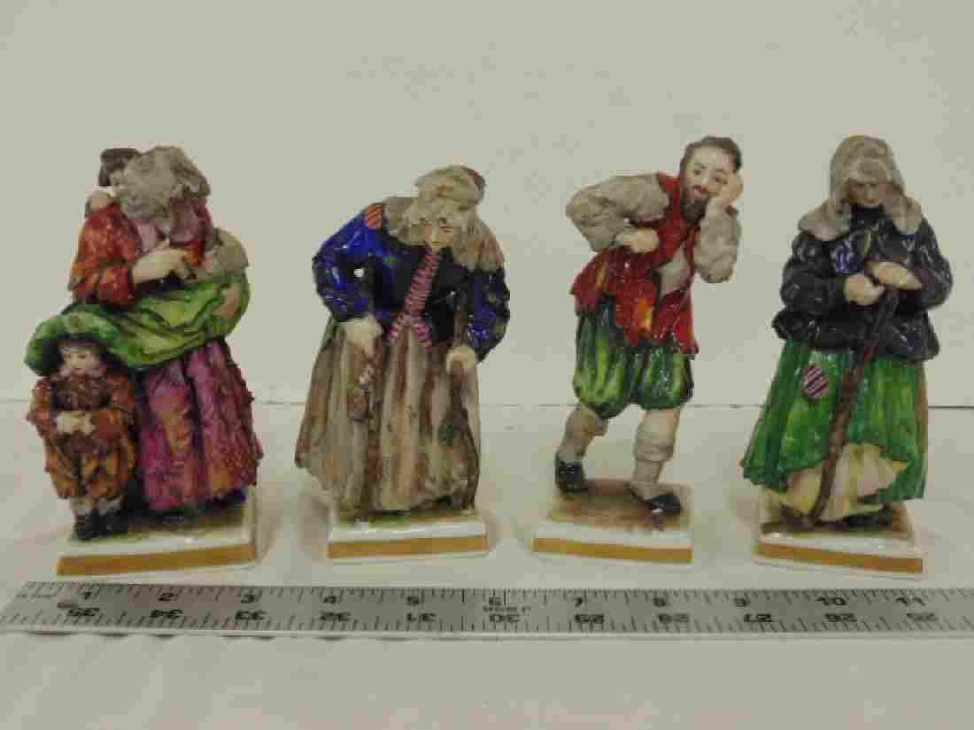 Set 4 Volkstedt porcelain figurines