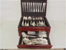 Large set '800 flatware in case, service for 12,
