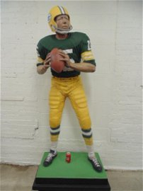 Life-size plaster statue of Bart Starr, by Jack Dowd,