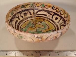 Islamic Ceramic bowl, North Africa, Tunisia, 1100-1200