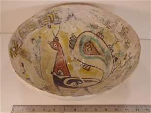 Islamic ceramic bowl, Tunisia 1100-1200 AD, rare