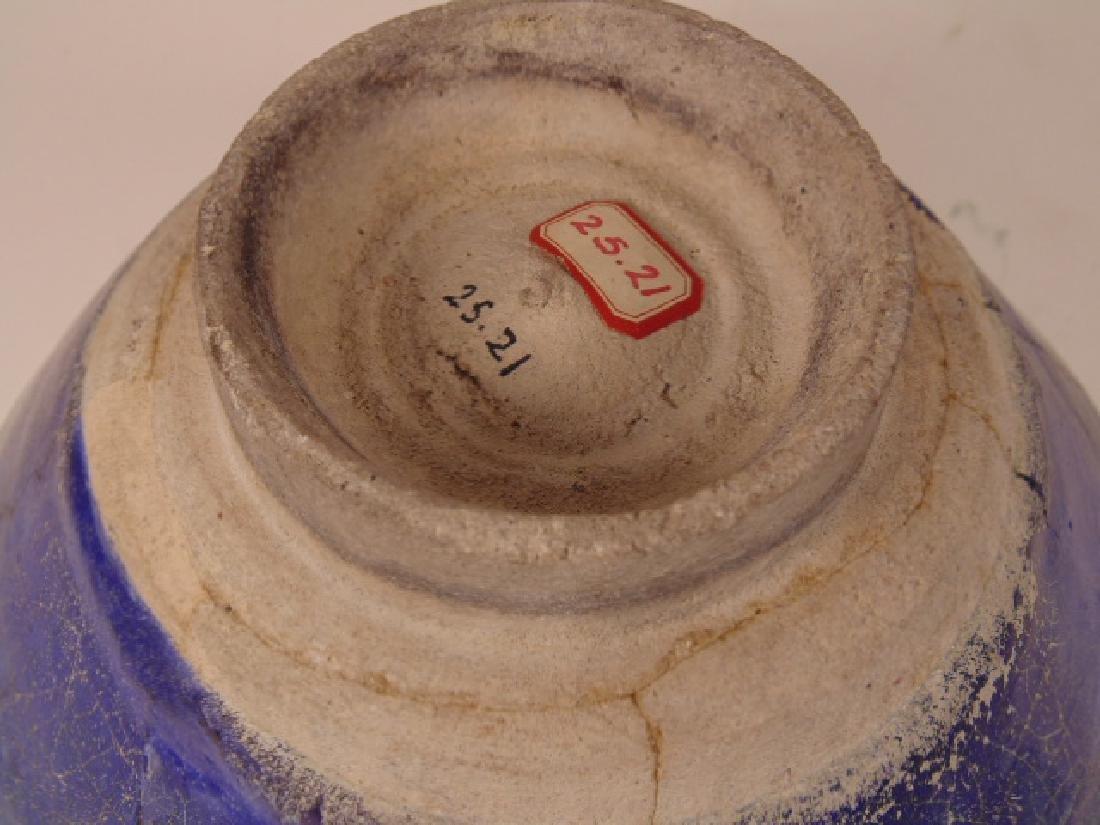Persian Islamic ceramic bowl, Nishapur, blue interior - 7