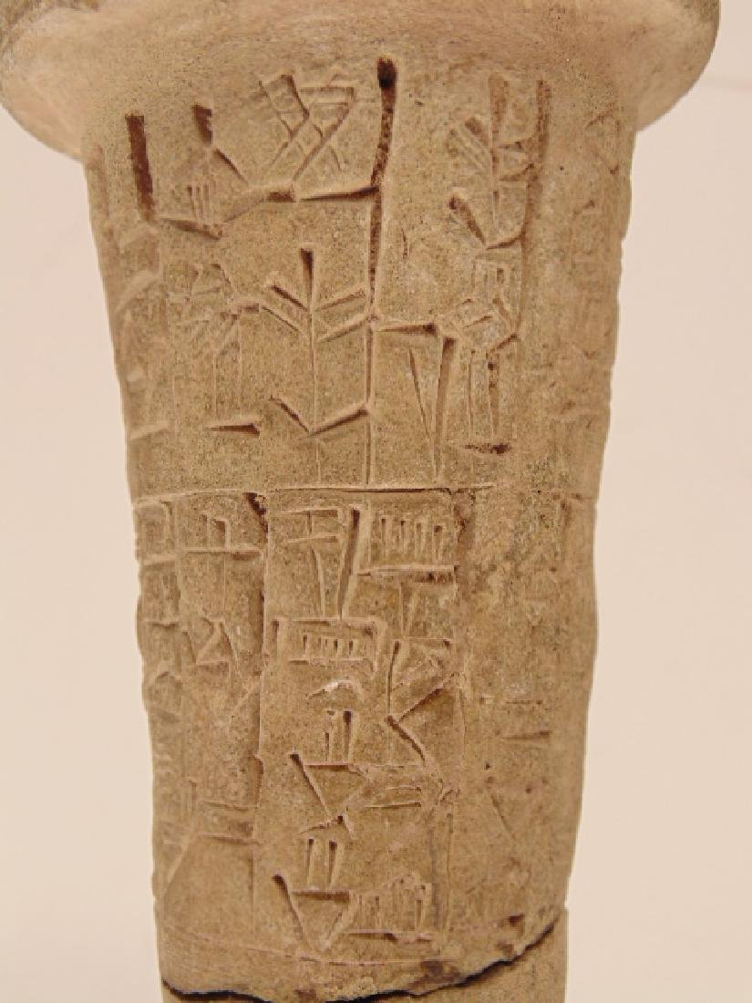 Ancient clay nail foundation peg with cuneiform - 3