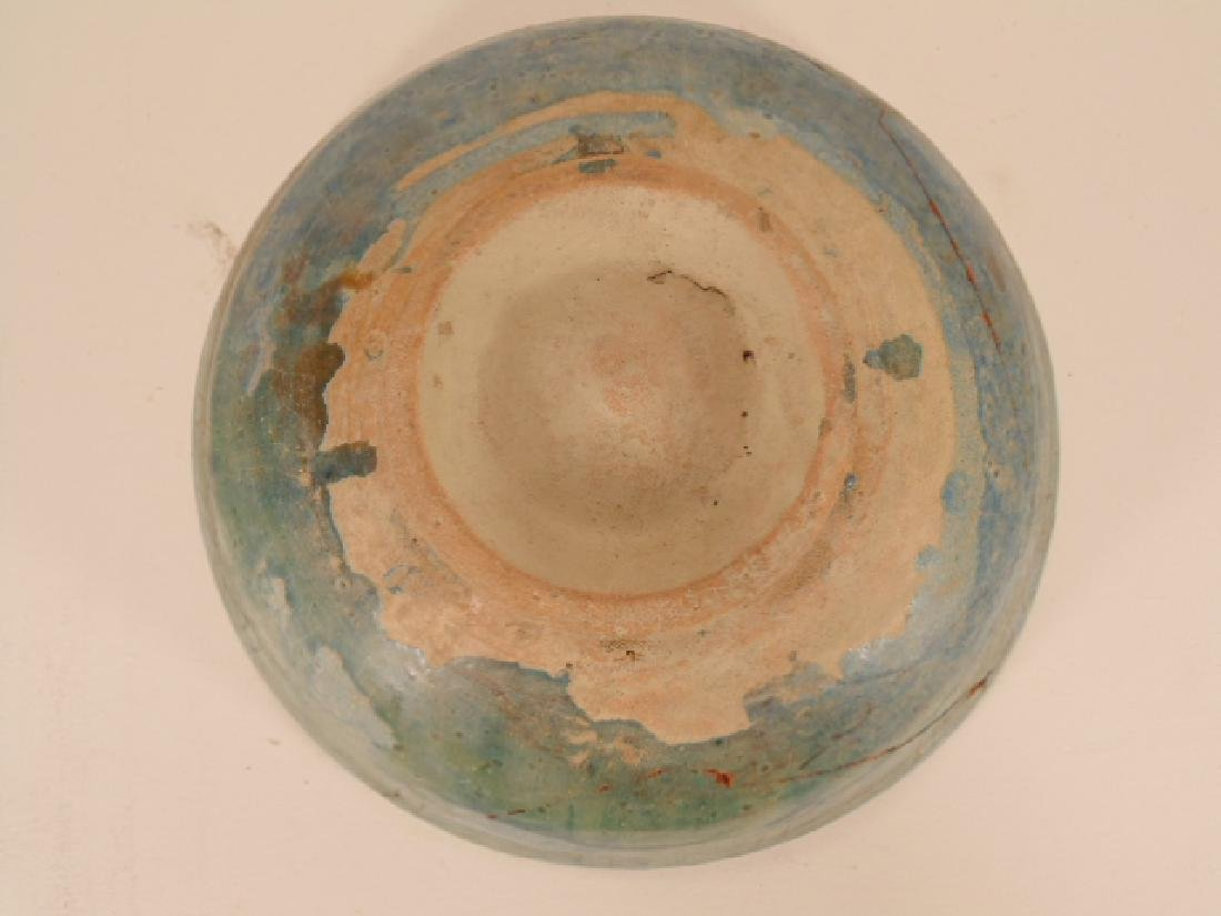 Nishapur ceramic Persian bowl, green/blue in color, - 6