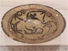 Nishapur Islamic ceramic Bowl, 900-1000 AD, decorated