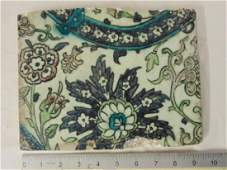 Ottoman Damascus Tile, Cobalt blue manganese purple,